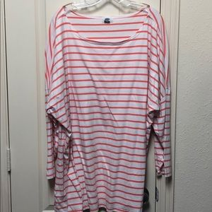 Orange and white striped Tshirt